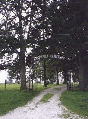 View of cemetery entrance
